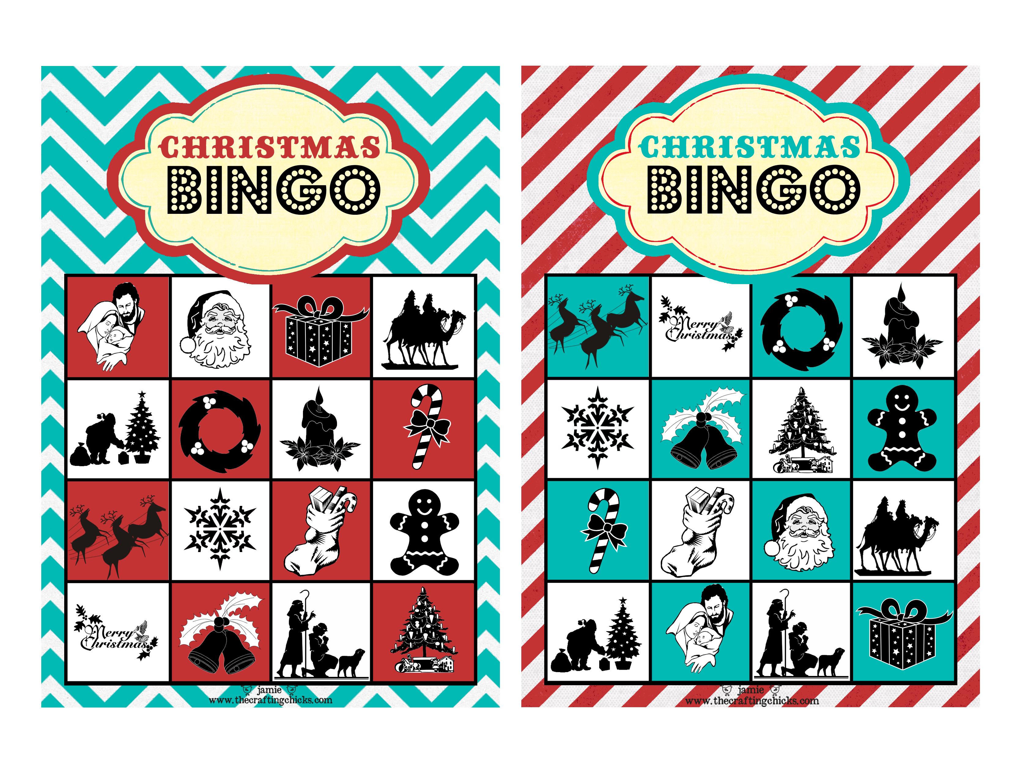 christmas bingo free printable download  the crafting chicks