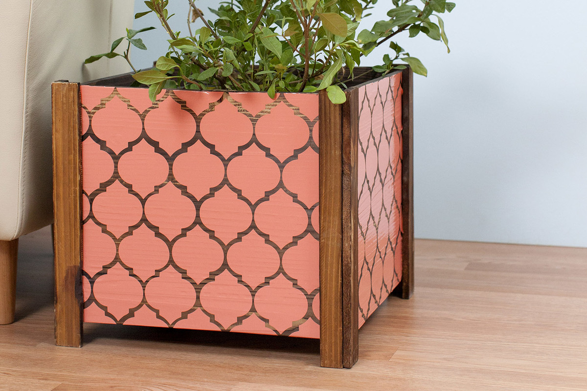 DIY Vinyl Kitchen Tile Backsplash with Floral Bloom Pattern