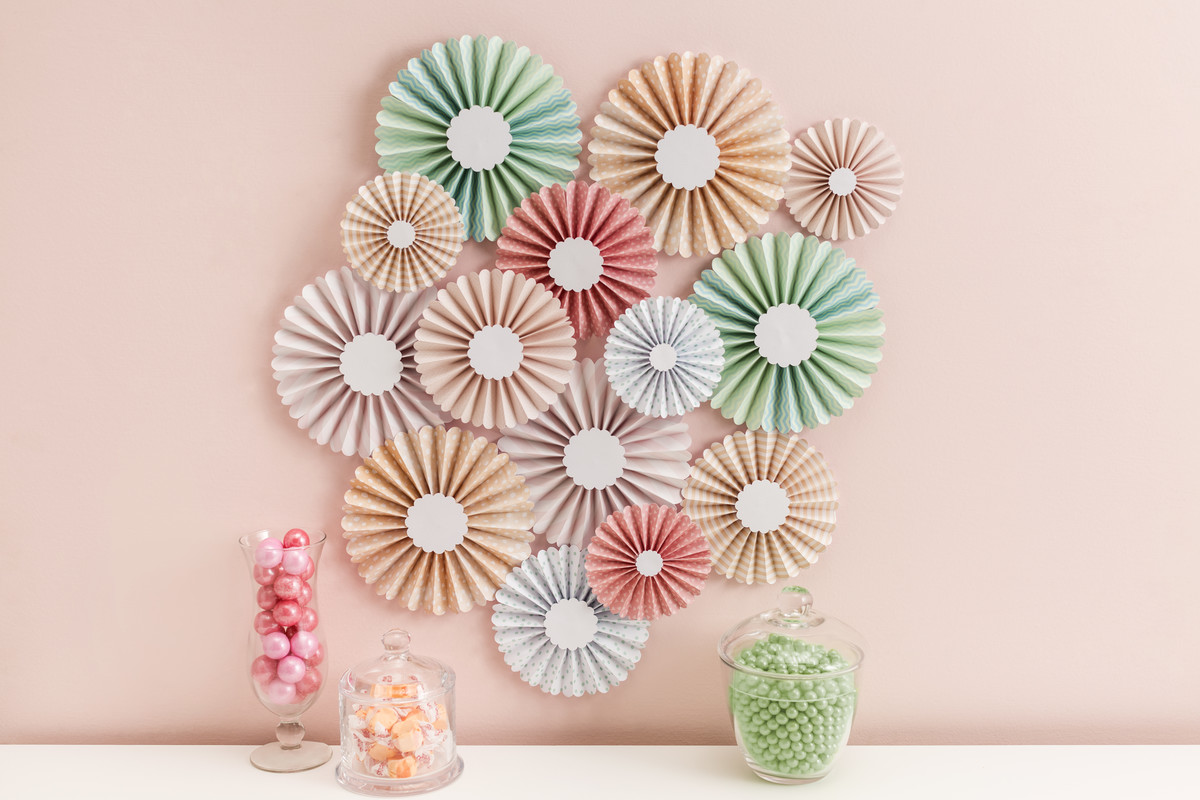 Rosettes home wall decor