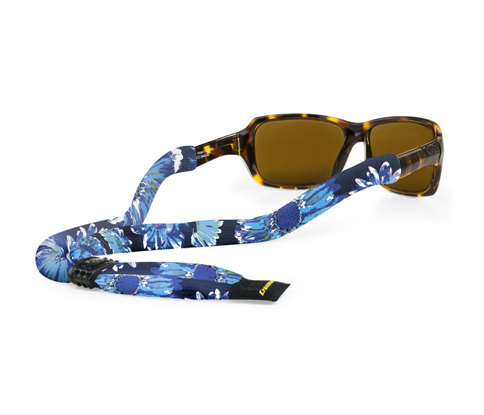 Croakies Micro Suiters Eyewear Retainer in Navy Fly Fishing
