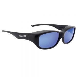 Queeda Eternal Black Polarvue Black Mirror Lens Fitover Sunglasses