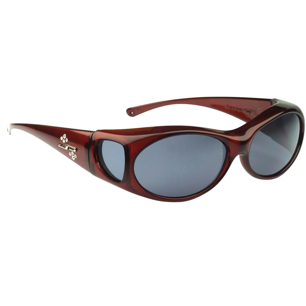 Aurora Fitover Sunglasses in Claret Polarvue Polarized Gray Lenses