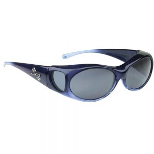 Aurora Sapphire Fitover Sunglasses with Polarvue Polarized gray lenses