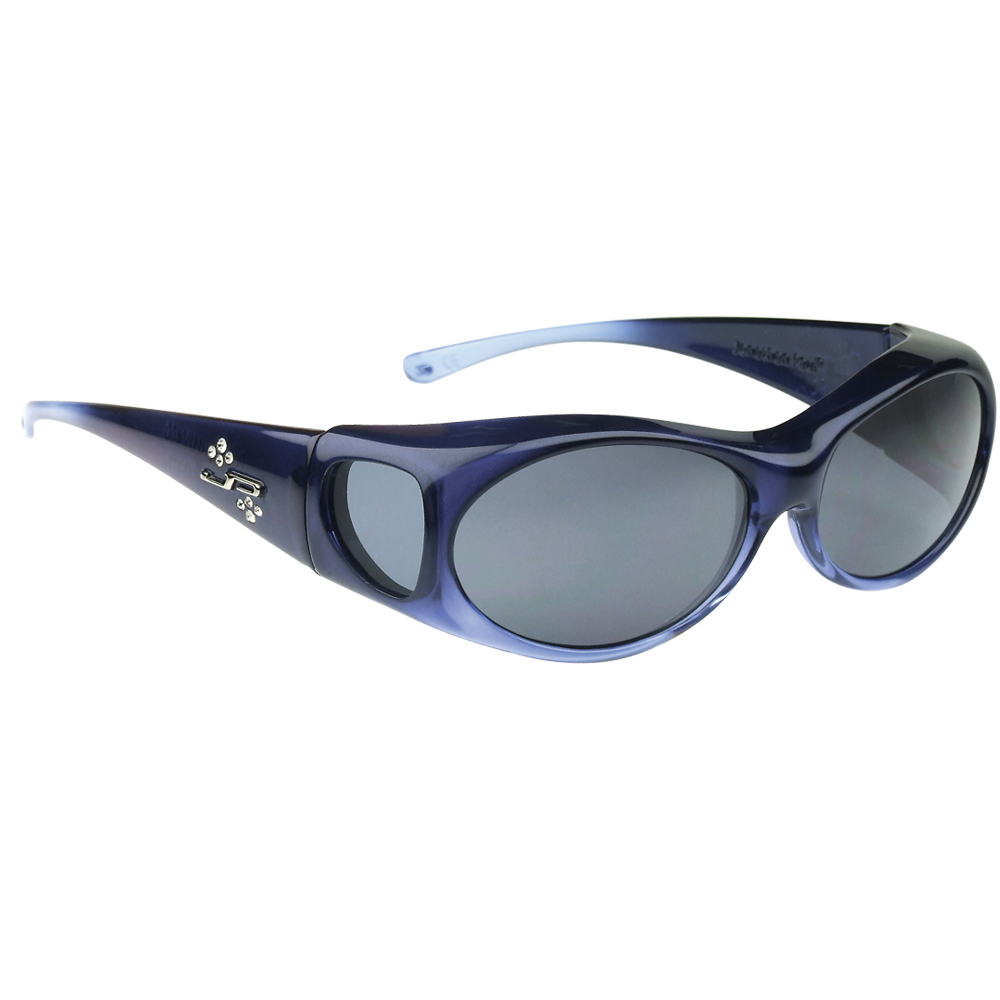 Aurora Sapphire Fitover Sunglasses with Polarvue Polarized gray lenses