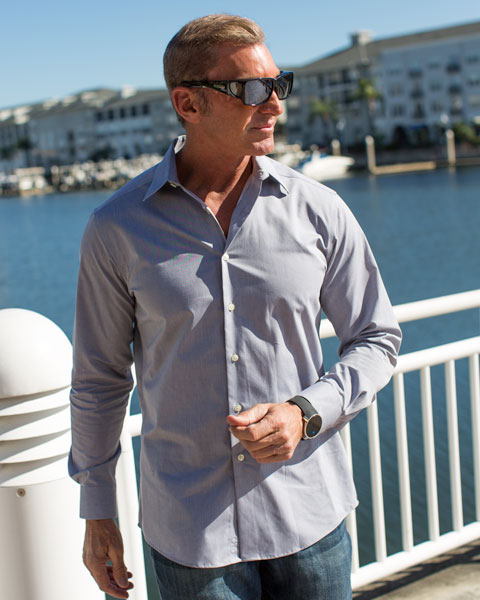 Man wearing Orion Sunglasses that fit over prescription frames in Florida by Jonathan Paul
