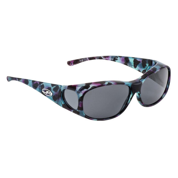 fitovers classic small blue coral with grey lens