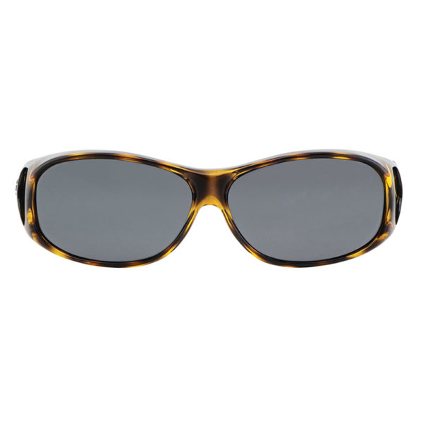 fitovers classic small leopard black front view