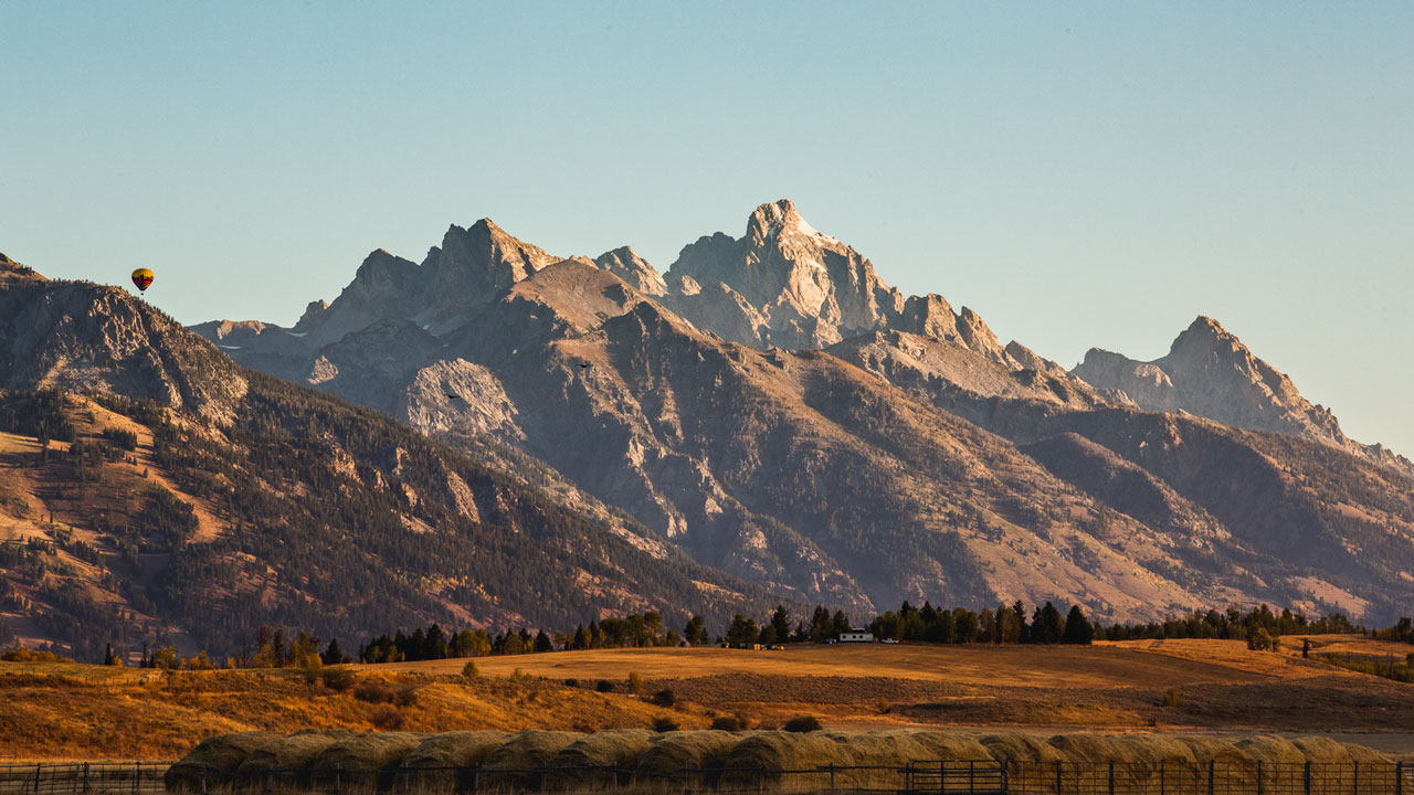The Grand Teton in the morning light.