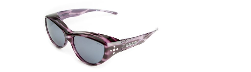 Cat eye style of polarized fit over sunglasses