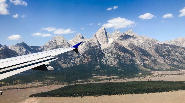 View of Grand Teton from Airplane for Jonathan Paul Eyewear by Dan Brown / Kapitol Photography