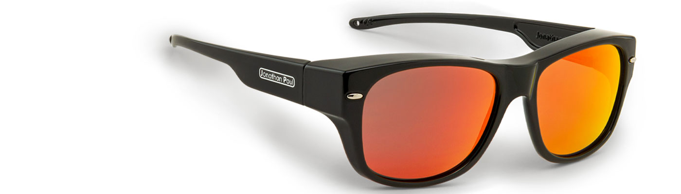 cool classic fitobers black with mirror red lenses