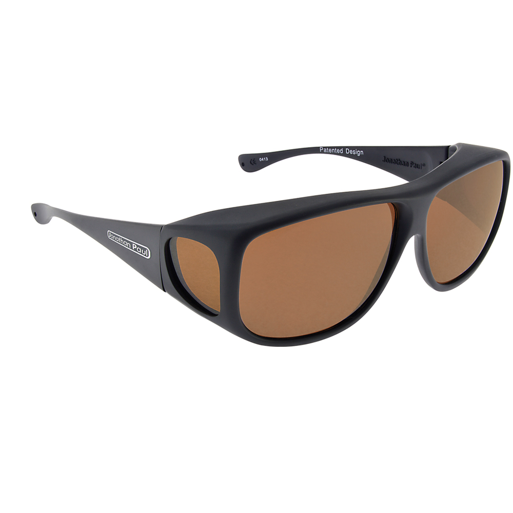 fitovers aviator matte black with amber lens