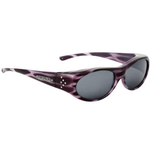 Fitovers binya purple stripe frame with grey lens