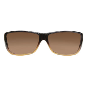 fitovers traveler brown amber lens front view