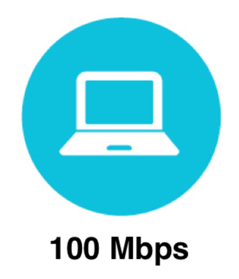 100 Mbps Internet