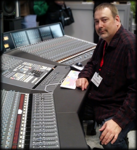 SSL console at 2014 AES trade show
