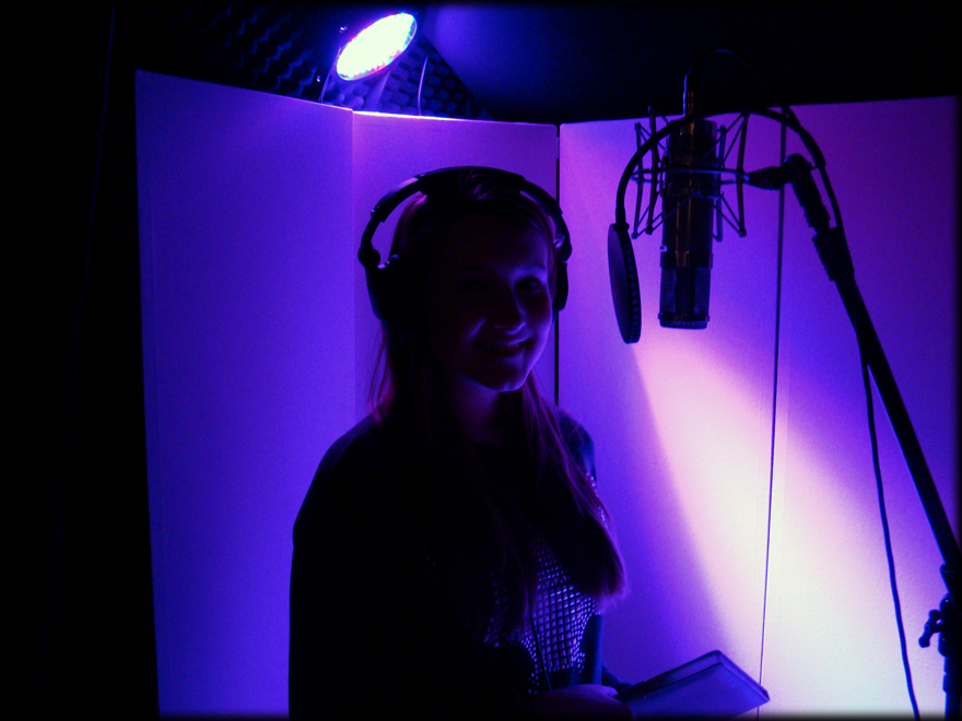 Eliza in the Vocal Booth