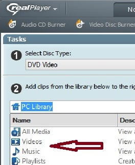 The Disc Double Click A Listed Category Or Select From Drop Down Menu To Search For Video Clips Elsewhere On Your Computer Network