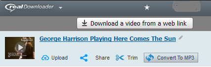 Convert music videos to audio tracks – SUPPORT