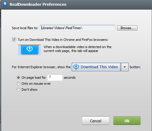 Turn off 'Download This Video' option – SUPPORT