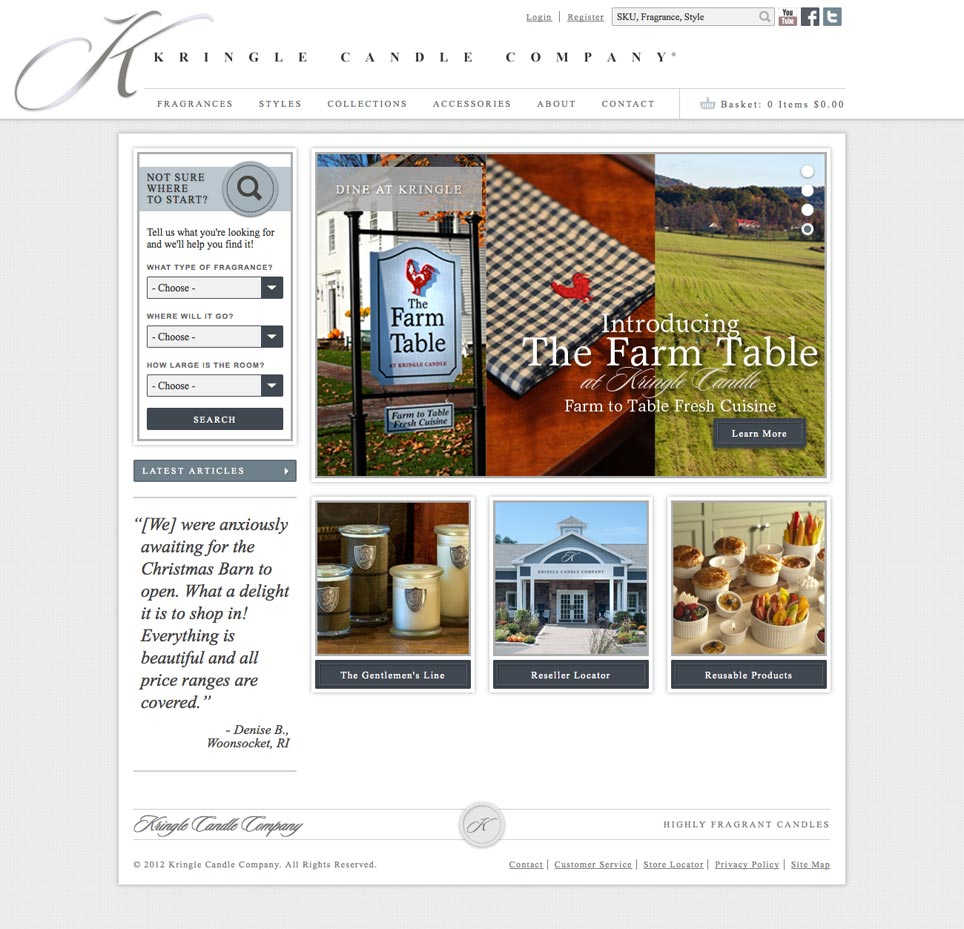 Kringle Website Homepage