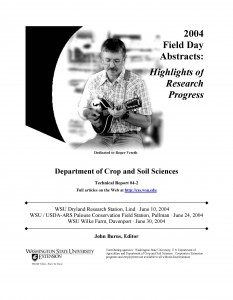 2004 Dryland Field Day Abstracts cover.