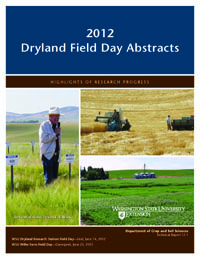 2012 Dryland Field Day Abstracts cover.