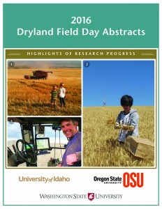 2016 Dryland Field Day Abstracts front cover.