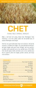 Chet, hard red spring wheat, flyer