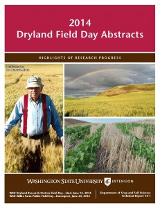 2014 Dryland Field Day Abstracts cover.