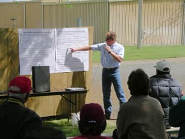 Richard Koenig at Lind field day