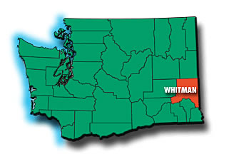 location of Whitman County in Washington state