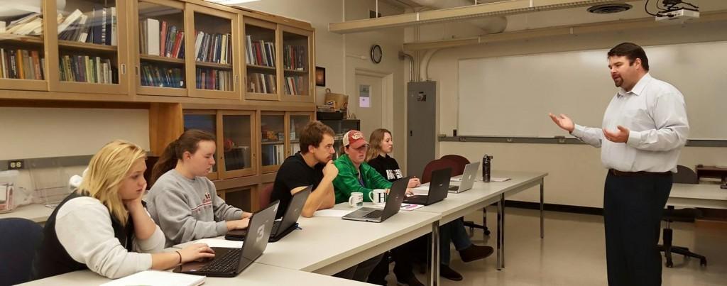 Ben Myers teaching a class