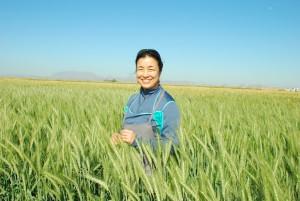 Kaori Ando in a field
