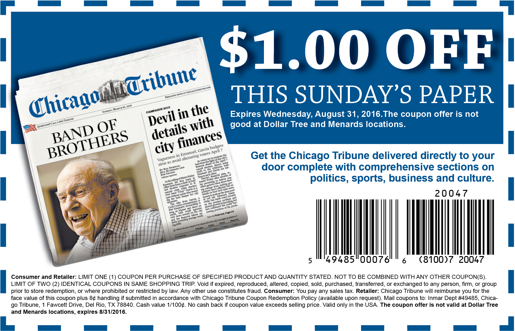 coupons chicago tribune sunday