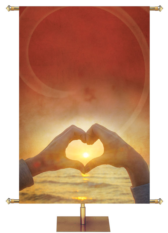 Inspirational Heart In Hands Custom Banner