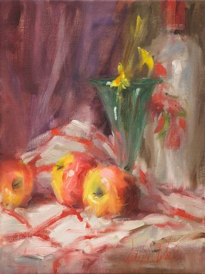 Mary Dolph Wood - Apples and Green Glass