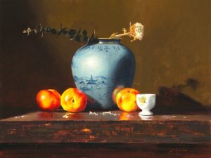 Matthew Cutter - Asian Vase with Nectarines