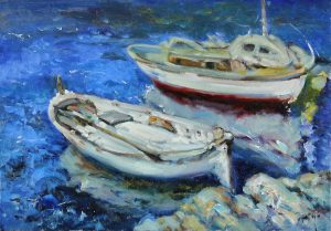 ROYO - Barcas en el Puerto