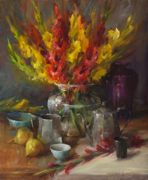 Mary Dolph Wood - Bouquet of Gladiolas