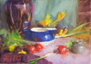 Mary Dolph Wood - Creamer and Radishes