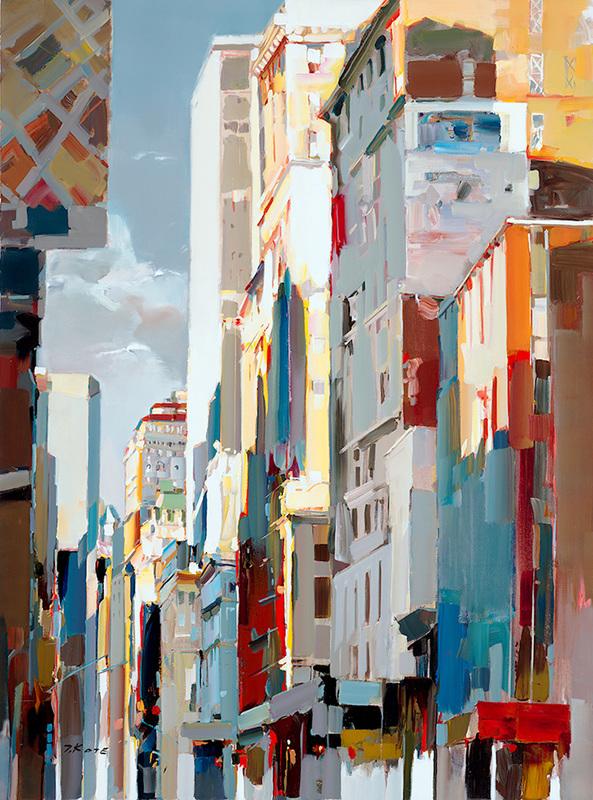 josef kote original acrylic painting