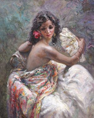 ROYO - Royo Original Oil Painting