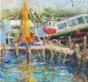 Mary Dolph Wood - Shrimp Boats
