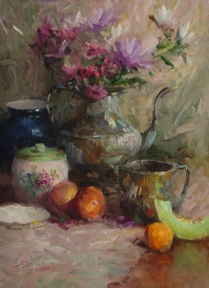 Mary Dolph Wood - Silver and Fruits