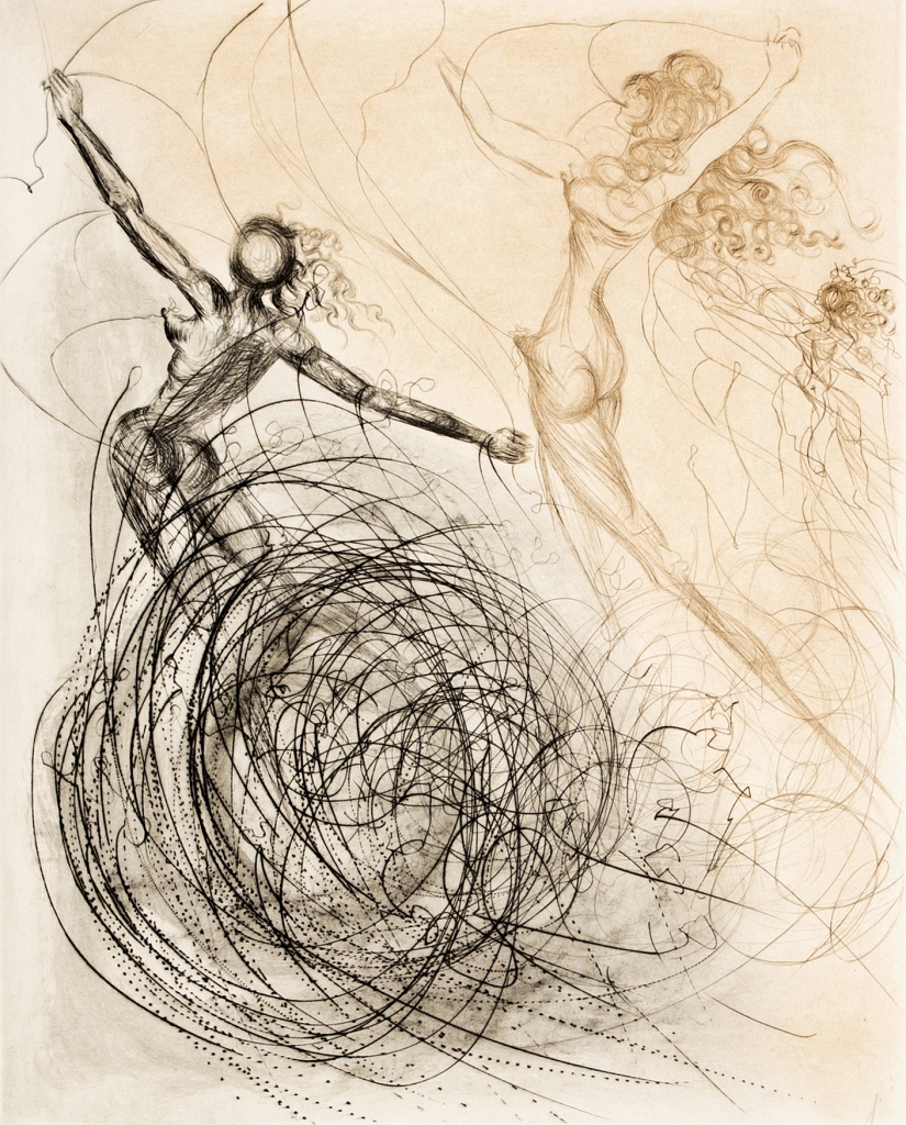 Salvador Dali Women in the Waves