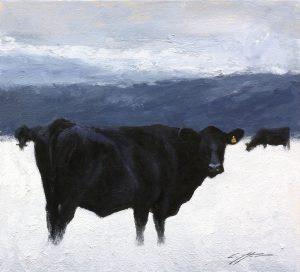Matthew Cutter - Matthew J. Cutter Original Winter Cows
