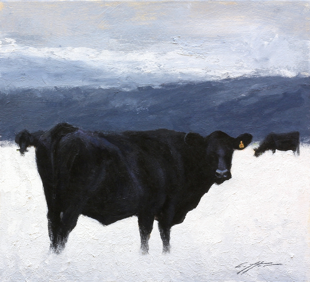Matthew J. Cutter Original Winter Cows