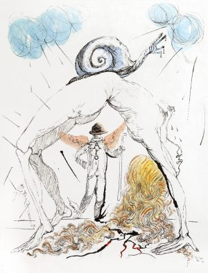 Salvador Dali - Apollinaire Woman with Snail