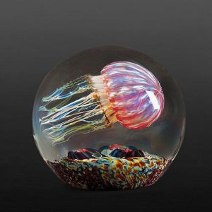 Richard Satava - Gold Ruby Side Swimmer Jellyfish